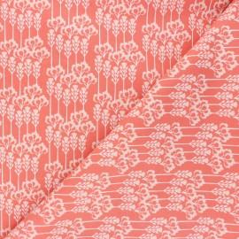 Tissu coton Cotton Steel Glory - Constance - corail x 10cm