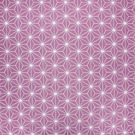 Tissu coton cretonne enduit Casual - figue x 10cm