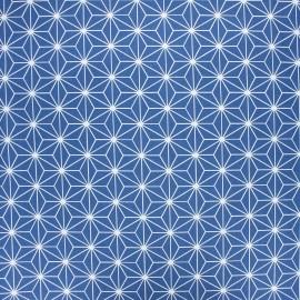 Coated cretonne cotton fabric - navy blue Casual x 10 cm