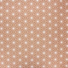 Coated cretonne cotton fabric - nutmeg Casual x 10 cm