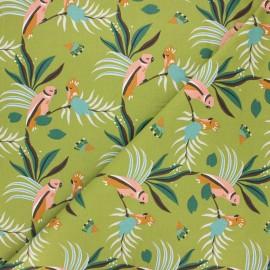 Cretonne cotton fabric - green Gaori x 10cm