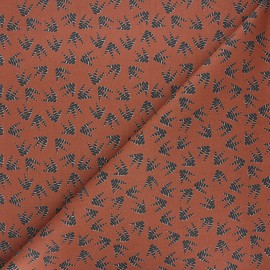 Tissu coton cretonne Sapoty - terre brûlée x 10cm