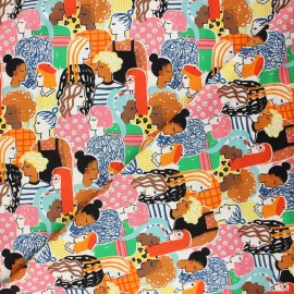 Alexander Henry cotton fabric - multicolor Stronger together x 10 cm