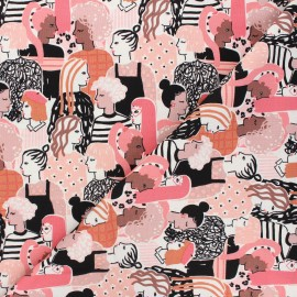Alexander Henry cotton fabric - pink Stronger together x 10 cm