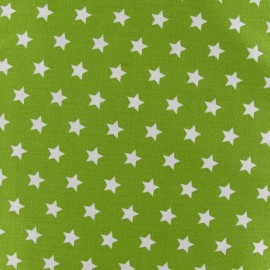Tissu étoiles Magic vert mousse x 10cm