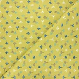 Tissu coton cretonne Tikama - pistache x 10cm