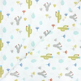 Cretonne cotton fabric - white Tikama x 10cm