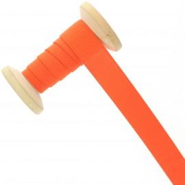 Elastique maille 20 mm - orange - Bobine de 15 m