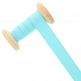 Elastique maille 20 mm - bleu lagon - Bobine de 15 m