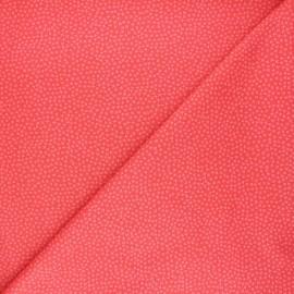 Tissu coton Dear Stella Jax - corail x 10cm