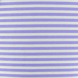 Stripes fabric 5mm - parma/white x 10cm