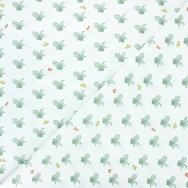 Cretonne cotton fabric - white Vozy x 10cm