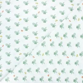 Tissu coton cretonne Vozy - blanc x 10cm