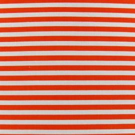 Stripes fabric 5mm - orange/white x 10cm