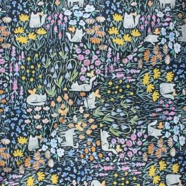 Tissu coton Dear Stella Creative cats - Kitty garden - noir x 10cm