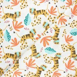 Tissu coton cretonne Nangka - blanc x 10cm