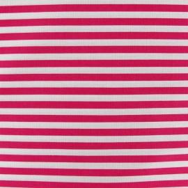 Stripes fabric 5mm - fuchsia/white x 10cm