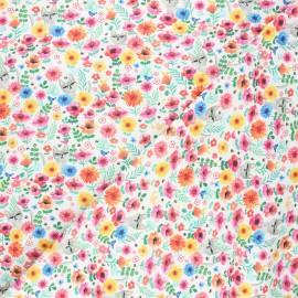 Tissu coton Dear Stella Catitude - Where's kitty? - blanc x 10cm