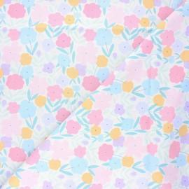 Dear Stella cotton fabric Music box - white Spring flowers x 10cm