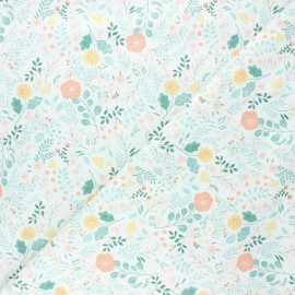 Dear Stella cotton fabric Sew on & sew forth - white Sew lovely x 10cm