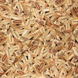 Tissu coton Timeless Treasures - Wine cork - beige x 10cm