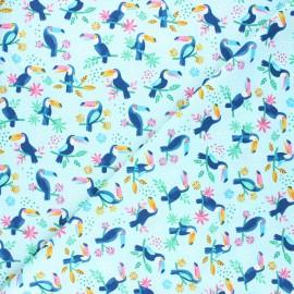 Tissu coton Dear Stella Aloha - Toucan dot it! - bleu ciel x 10cm