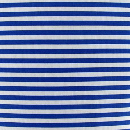 tissu rayures 5mm bleu roy blanc x 10cm ma petite mercerie. Black Bedroom Furniture Sets. Home Design Ideas