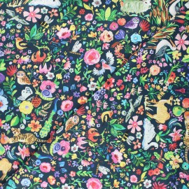 Tissu coton Dear Stella Tree of life - Garden of life - vert sapin x 10cm