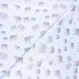 Dear Stella cotton fabric Call of the wild - light grey Tusk x 10cm
