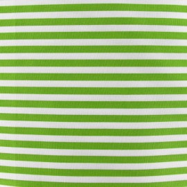 Stripes fabric 5mm - moss green/white x 10cm