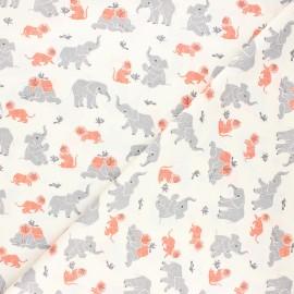Tissu coton Dear Stella New here - Three's company - ivoire x 10cm