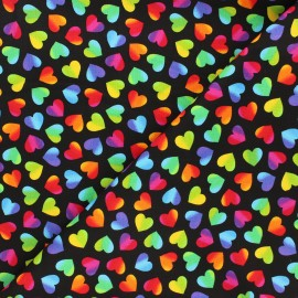 Timeless Treasures cotton fabric - multicolor/black Big pop love x 10cm
