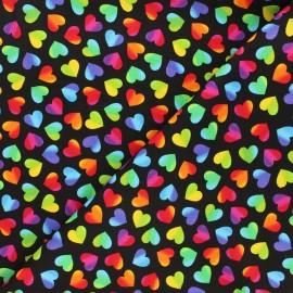 Tissu coton Timeless Treasures - Big pop love - multicolore/noir x 10cm