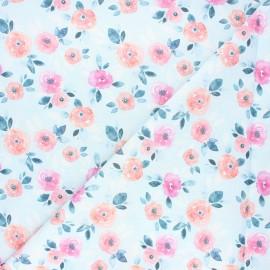 Tissu coton Dear Stella - Posies - bleu clair x 10cm