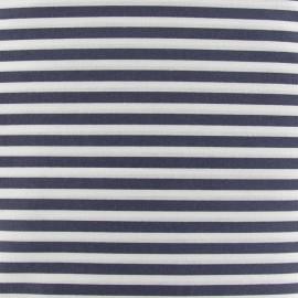 Tissu rayures 5mm gris foncé/blanc x 10cm