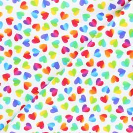 Tissu coton Timeless Treasures - Big pop love - multicolore/blanc x 10cm