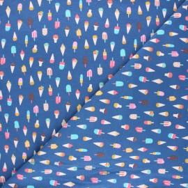 Tissu jersey Dear Stella Aloha - Ice cream - bleu marine x 10cm