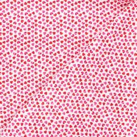 Timeless Treasures cotton fabric - pink/white Pop love x 10cm