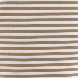Stripes fabric 5mm - string/white x 10cm