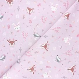 Cretonne cotton fabric - pink Ezana x 10cm