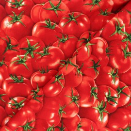 Tissu coton Timeless Treasures  - Tomatoes - rouge x 10cm
