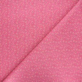 Tissu coton cretonne Emza - violine x 10cm