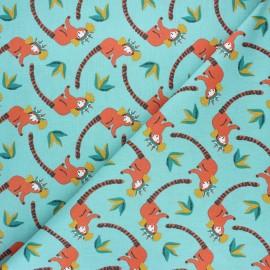 Tissu coton cretonne Toupet - bleu x 10cm
