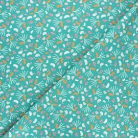 Cretonne cotton fabric - green Lippy x 10cm