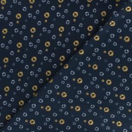 Tissu coton Cotton Steel Mountains, rocks, and pebbles - River pebbles - bleu nuit x 10cm