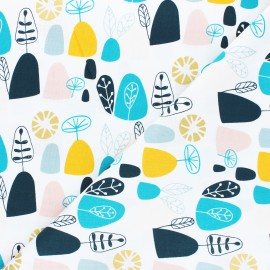 Cotton Steel cotton fabric Mountains, rocks, and pebbles - multicolor Rocky mountians x 10cm
