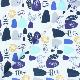 Tissu coton Cotton Steel Mountains, rocks, and pebbles - Rocky mountians - bleu x 10cm