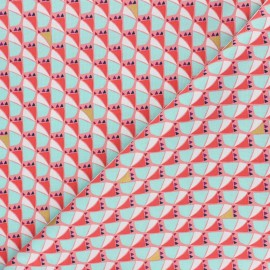 Cotton Steel cotton fabric Mountains, rocks, and pebbles - coral Mountain dog x 10cm