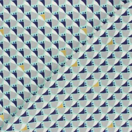Tissu coton Cotton Steel Mountains, rocks, and pebbles - Mountain dog - céladon x 10cm
