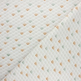 Tissu coton cretonne Evundi - blanc x 10cm